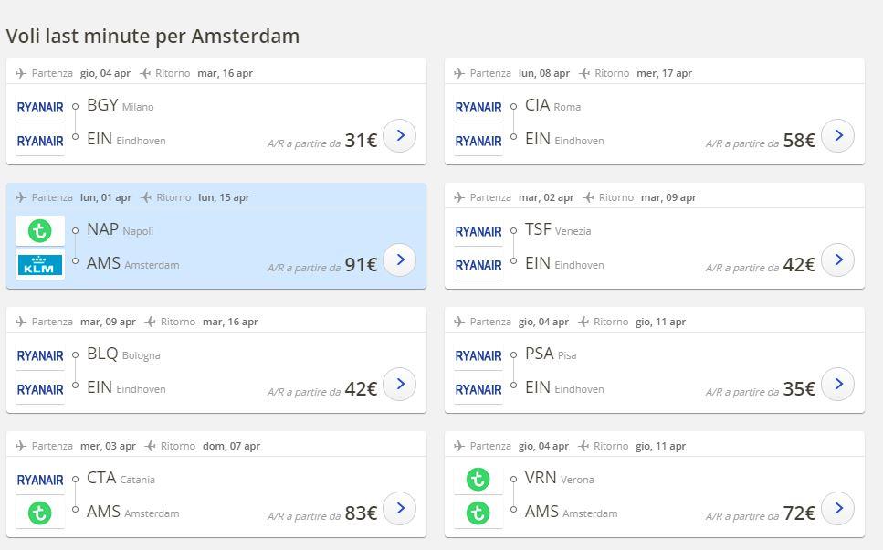 Voli per Amsterdam dall\'Italia - Guida completa alle ...